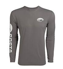 85ecf18dc9df Costa Del Mar prestaciones técnicas camisa de mangas largas, Gris, Pequeño