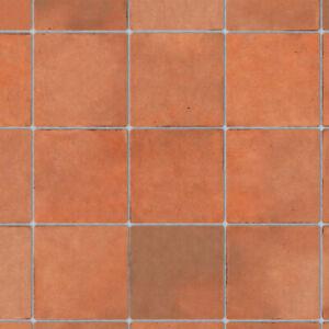1/12 Dolls House Embossed Terracotta Large Floor Tiles A3 Sheet Card DIY786B