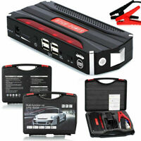 Slim 80000mAh 12V Car Jump Starter Booster Charger Battery Power Bank Smartphone