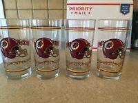 Set Redskins Pint Glasses Tumblers Lot 4 New - Collectible