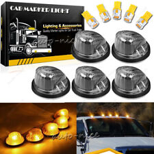 5x For 69-87 Chevy GMC Smoke Lens Amber Yellow LED Cab Roof Running Marker Light