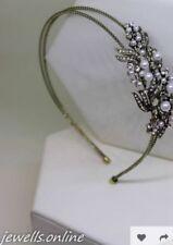 Accessoires de coiffure jaune en cristal pour la mariée