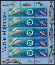 2002 Norfolk Island-New Caledonia Sperm Whale Joint Issue Sheetlet Fine Used/Cto