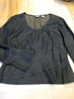 J. Jill Women's Blue Denim Look Top Size XS