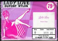 Pretty pair of VINTAGE NYLON STOCKINGS - Size 9 - 31  LADY LOVE - WHITE