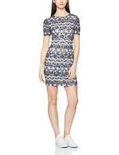 Yumi Women's Printed Lace Back Twist Bodycon Dress uk sz 12 new