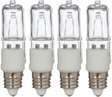 [4 Pack] 50 Watt 120 Volt Halogen Bulbs E11 Mini Candelabra 120V 50W T4 JD Lamp
