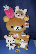 SAN-X Rilakkuma Relax Bear Bag & Plush doll Set Kori  Strawberry