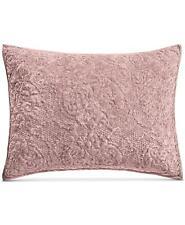 Martha Stewart Collection Velvet Flourish Standard Quilted Pillow Sham Mauve $60
