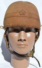 RARE JAPANESE WWII ARMY TANKER HELMET COMBAT WORN! JAPAN WW2 TANK UNITS ORIGINAL