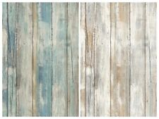Distressed Wood Peel and Stick Wallpaper Gray Brown White 3D Realistic Barnwood