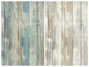 Removable Water-Activated Wallpaper Rustic Wood Farmhouse Barn Decor Planks