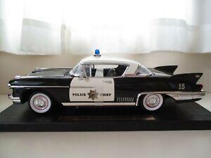 YAT MING 1958 CADILLAC ELDORADO CALIFORNIA HIGHWAY PATROL POLICE CHIEF CAR 1/18