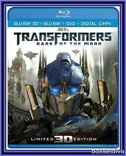 TRANSFORMERS -DARK OF THE MOON -BLU RAY 3D +BLU RAY +DIGITAL COPY *BRAND NEW*