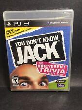 Factory Sealed - You Don't Know Jack - PS3 NTSC U/C - Damaged - Free Shipping