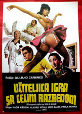 TEACHER DANCE WITH THE WHOLE CLASS 1979 SEXY NADIA CASSINI EXYU MOVIE POSTER