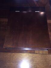 The Bombay Company Vintage Laptop Writers Slope Desk Dark Wood Stain Brass Hinge