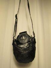 sac bandoulière DIESEL toile enduite noir brillant