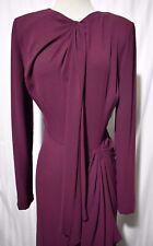 BCBG Maxazria Runway Vintage Library burgundy dress pleated waist design new