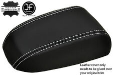 WHITE STITCHING REAL LEATHER ARMREST LID COVER FITS KIA CERATO 2004-2008