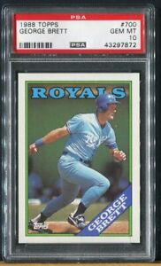 1988 Topps Baseball Card #700 George Brett - HOF - KC Royals - PSA 10 GEM MINT