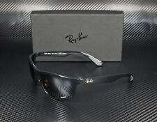 RAY BAN RB4265 601 5J Shiny Black Grey Polarized Mir Silver 62m Men's Sunglasses