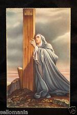 OLD POSTCARD VIRGEN MARIA EN LA CRUZ VIRGIN MARY ON THE CROSS HOLY CARD   CC0026