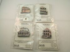 Lot of 4 Shelia'S Historic Lapel Pins Pink House Chestnutt Asendorf LeSeigneur