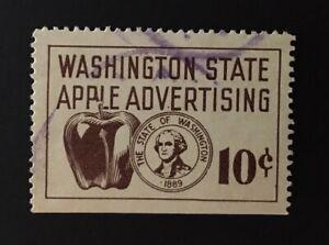 SCARCE Washington State Revenue - 10 cents Apple Advertising Tax #AP25, used, WA