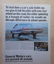 1965 magazine ad for Pontiac, GM - Pontiac Bonneville axle endurance tested