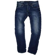 JACK & JONES indigo/dark-wash Herren-Jeans mit mittlerer Bundhöhe