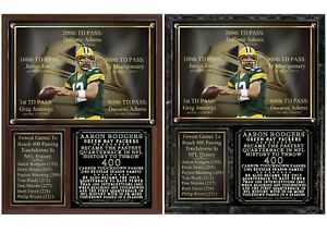 Aaron Rodgers 400 Passing Touchdowns Photo Plaque