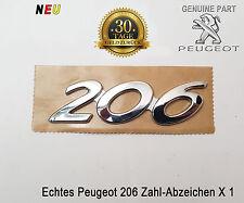 Peugeot 206 Emblem Anzahl Logo Echter Name Heckklappe badge Embleme