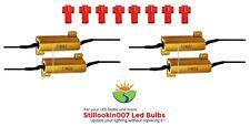 4 - 50 Watt 6 Ohm load resistors & connectors. Hyper-Flash / Bulb Out / can bus