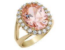 Цирконий кольцо с золотым