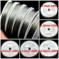 Tigertail beading wire nylon-coated stainless steel Clear 0.3-0.6mm Strong 7 str
