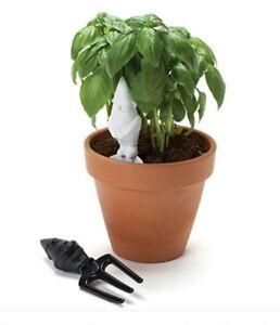 HERBERTS Gardening Gift Set, Trowel & fork hand tools. Plant pot Gnome 🌼