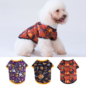 Halloween Pet Clothes T-shirt Small Dog Cat Puppy Teddy Vest Costume Apparel