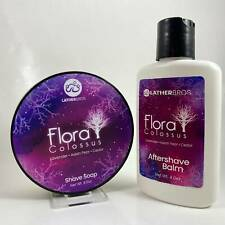 Flora Colossus Shaving Soap and Aftershave Balm - by Lather Bros (Pre-Owned)