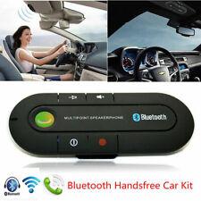 Wireless Bluetooth Hands Free Speaker Car Kit Visor Mobile Phone Clip Smart E2M4