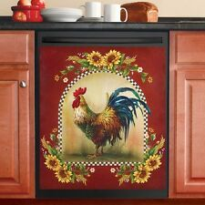 KING OF THE BARNYARD REGAL ROOSTER DISH WASHER DISHWASHER MAGNET PLAQUE PICTURE