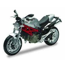 Moto Ducati New Monster 1100 Scala 1:12 DieCast Colore Argento Newray 44023