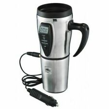 16oz HEATED COFFEE CUP Car Travel MUG-Automobile 12V DigitalSmart Stainless New