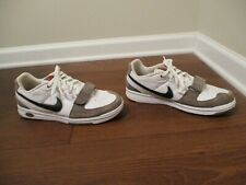Classic 2007 Used Worn Size 10.5 Nike Air Macback Strap Leather Shoes White Gray