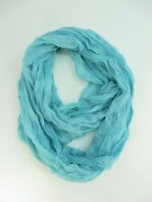 turquoise blue double loop infinity scarf eternity circle neck wrap