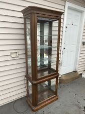 Vintage Gordon's Fine Furniture Lighted Curio Display Cabinet