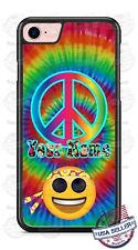 Customized Tie Dye Emoji Hippie Personalized Phone Case fits iPhone LG etc.