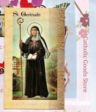 Saint St. Gertrude - Biography, prayer, Feast Day, etc... Folder Card