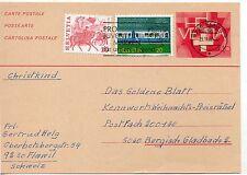 Suiza Entero postal circulado año 1982 (DE-752)