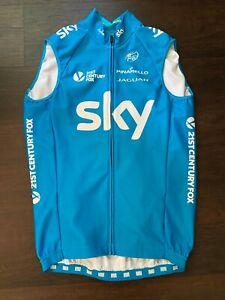 Rapha Thermal Vest Gilet Team Sky Rider Issued 3 medium pocket blue Froome Wiggi